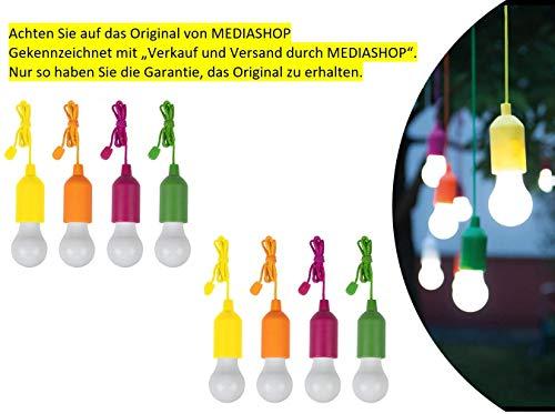 Handy Lux Colors kabellose LED Leuchte in 4 Gehäuse Farben | 8 Stück Lampen | Safe touch Oberfläche | Bruchfest | Garten, Camping, Party, Kleiderschrank | Das Original aus dem TV von Mediashop - 2