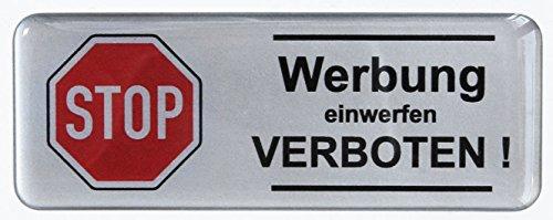 3D brievenbus sticker zilver 402102 Groot