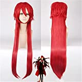 Peluca altamente restaurada llegada moda estilo negro mayordomo Grell Sutcliff Cosplay peluca larga roja traje pelucas+peluca casquillo vale la pena comprar por los entusiastas