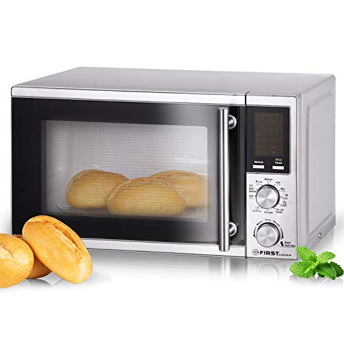 TZS First Austria - 20 Liter Mikrowelle mit Grill-Funktion | Pizza und Kaffee-Programm 1200 Watt Microwelle | 8 Automatik-Programme | Microwave mit Kindersicherung-Funktion