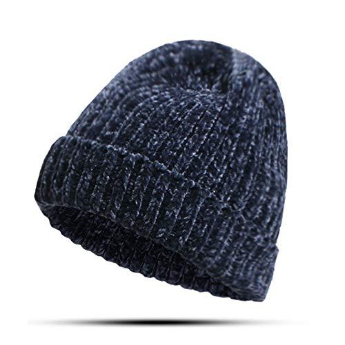 N/A Mütze Winter Rib Strick Kurze Kappe einfarbige Mütze lose Mütze Mütze lose