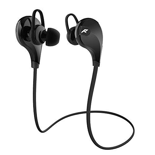 Redlemon Audífonos Bluetooth Inalámbricos de Diseño Deportivo, Resistentes al Sudor y al Polvo con Manos Libres Integrado, Compatibilidad Universal, Incluye Estuche Portátil, Modelo QY7. Negro