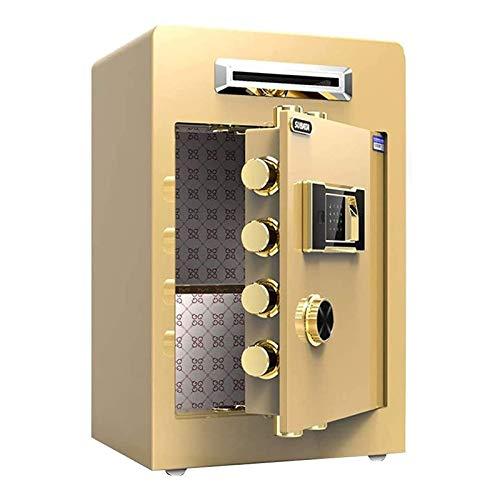 WSMLA Caja de seguridad caja de seguridad de seguridad digital electrónica Estructura de acero Cerradura oculta, pared o gabinete Diseño fijo, Home Office Hotel Business Anti-Robo Archivo de oficina C