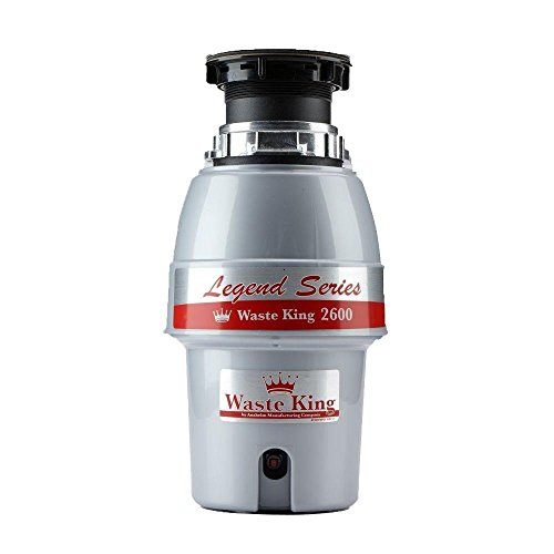 Waste King L-2600 Continuous Feed Garbage Disposal with Power Cord, 1/2 HP - (Renewed)