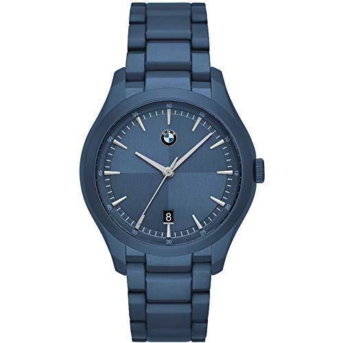 BMW Dreihanduhr Blau Edelstahl Herren Classic Uhr BMW6006