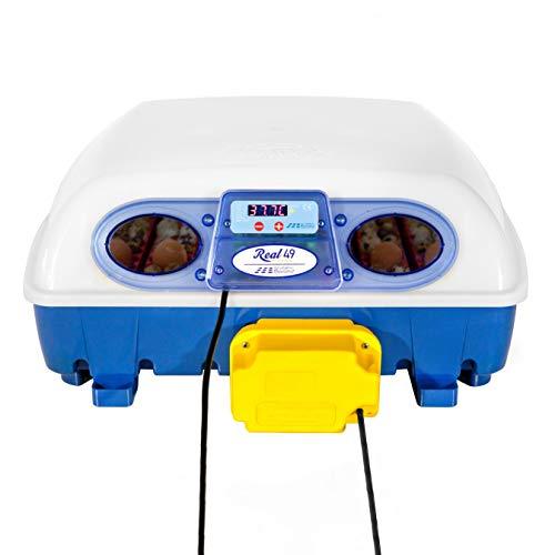 Borotto REAL 49 Automática - Incubadora profesional patentada, con gira huevos Automático - para 49 huevos o 196 huevos pequeños