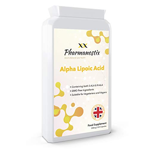 Alpha Lipoic Acid 300mg Supplement - 120 Capsules |Dual ALA (Blend RALA and SALA) | UK Manufactured to GMP Standards