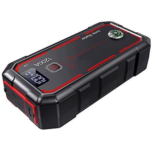 38000mAH Batería de Emergencia para automóvil Convertidor de Arranque portátil Herramienta eléctrica para Exteriores Cargador Inteligente Gasolina Diesel 12V USB LED Cargador de Linterna