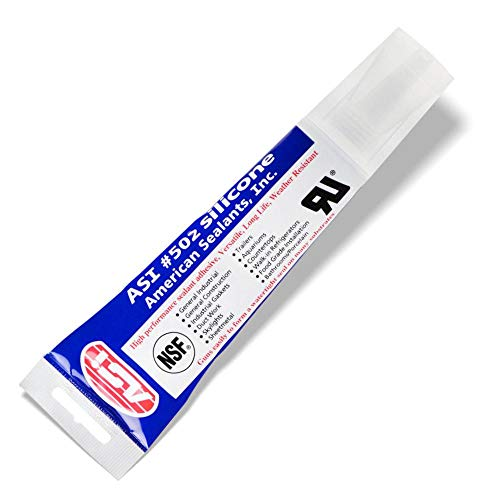 Silicone Sealant 100% RTV - 2.8 oz Squeeze Tube -Clear-