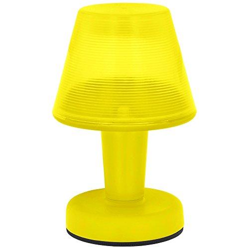 Lampe Promobo-Lampada Led da tavolo Fluo, City Design ideale per piccolo-Luce notturna, colore: giallo