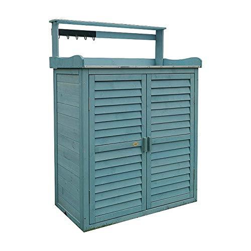 Gartenschrank Outdoor Locker Speicherschrank Balkon Hof Werkzeugschrank aus Holz Schuhregal wasserdichte Sonnenschutz Aufbewahrungsbox für den Außenbereich: Bewahren SI