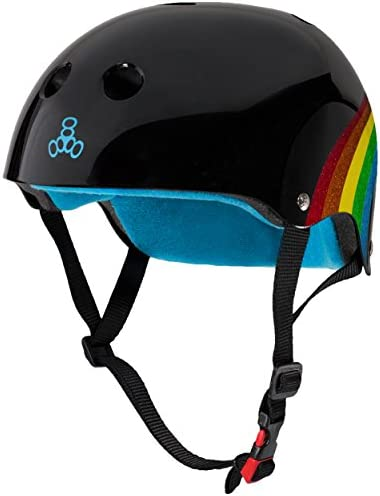 Triple Eight THE Certified Sweatsaver Helmet for Skateboarding BMX and Roller Skating Rainbow product image