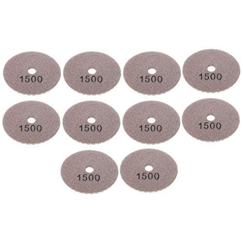 Placa de respaldo de pulido de grano 1500 10 piezas 1500 almohadillas de pulido de diamante de malla tamaño para pulido de terrazo