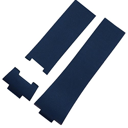 26 mm Uhrenarmband blau Gummi Band kompatibel mit Nardin 353-68le-3