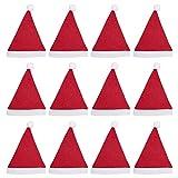 Pack 12 Gorro Papá Noel de Navidad de Santa Claus de Terciopelo de Felpe Suave Sombreros Rojos Navideño de Invierno para Fiesta Festiva de Año Nuevo para Niños Unisex (FYQ-13, NIÑO)