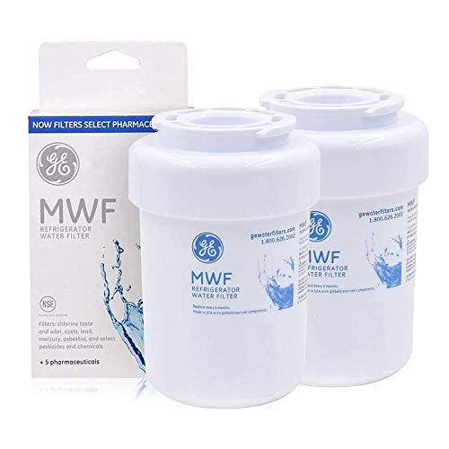 MWF Refrigerator Water Filter Replacement For GE SmartWater Refrigerator Water Filter Compatible with MWF MWFINT MWFP MWFA GWF HDX FMG-1 (2 Pack)