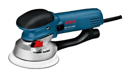 Bosch GEX 150 Turbo Professional Exzenterschleifer mit Schleifteller und Schlüsselhalter