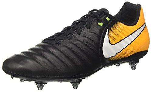 NIKE Tiempo Ligera IV SG, Botas de fútbol Hombre, Negro (Black/White/Laser Orange/Volt), 41 EU