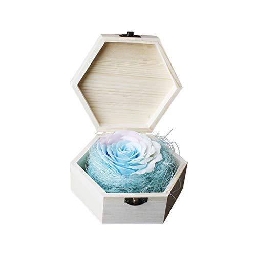 Zegeey KüNstliche Rose Kreatives Geschenk Holzkiste Kasten Romantische Hochzeit Dekorations Werbegeschenk Lippenstift Geschenkbox Bestes FüR Valentinstag Muttertag Geburtstag Jahrestag Wedding