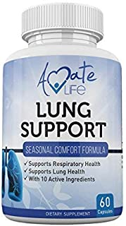 Sponsored Ad - Lung Support Dietary Supplements Herbal Breathing Support 10 Active Ingredients Original Formula for Lung H...
