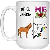 N\A Taza de café Blanca Divertida del cumpleaños del Unicornio del Mejor árbitro