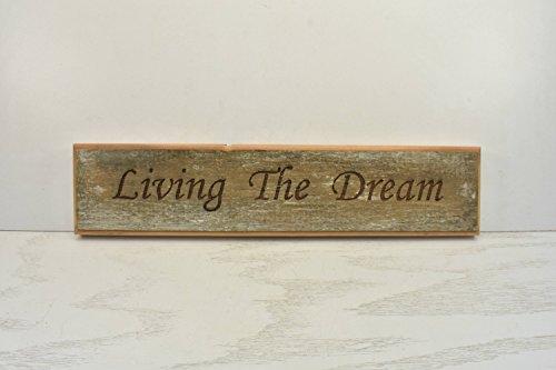 Norma Lily het leven van de droom Plaque hout teken deur Topper