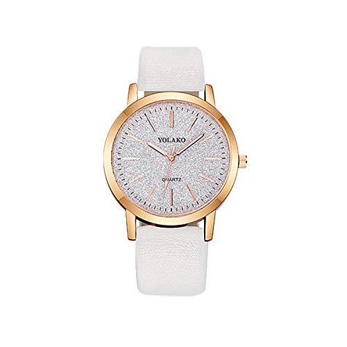 SANDA Relojes Hombre,Reloj de Pulsera Reloj de Moda Reloj de cinturón de Estudiante-Blanco