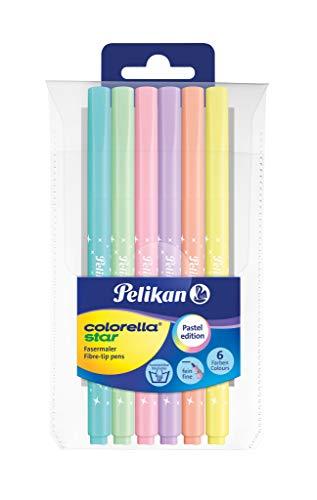 Pelikan 814478 Faserschreiber ColorellaStar 302, 6 Stifte im Etui