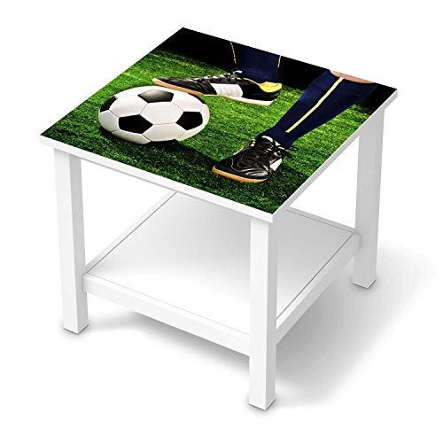 creatisto Möbel-Tattoo für Kinder - passend für IKEA Hemnes Beistelltisch 55x55 cm I Tolle Möbelfolie für Kinder-Möbel Deko I Design: Fussballstar