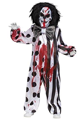 Fun World Bleeding Killer Clown Childrens Costume, Medium, Multicolor