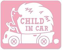 imoninn CHILD in car ステッカー 【マグネットタイプ】 No.37 ハリネズミさん (ピンク色)