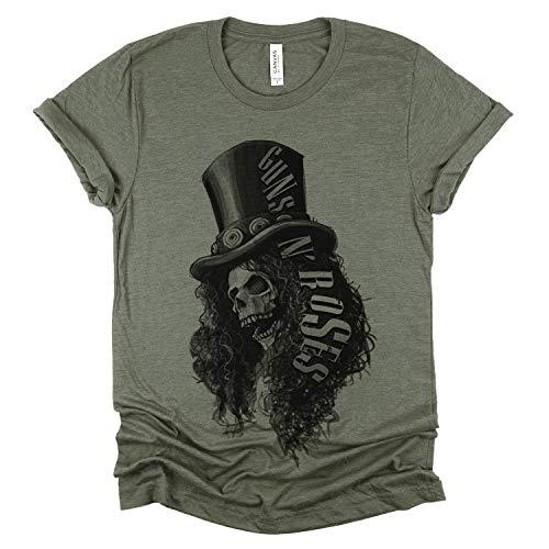 Guns N Roses Slash Skull T-shirt, Unisex