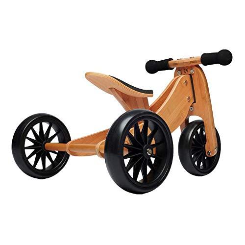 Kinderfeets Tiny Tot 2-in-1 Trike Balance Bike Bamboo