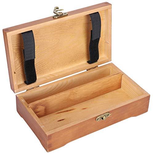 Caja de papelería, caja de madera portátil, caja de almacenamiento pequeña para conjunto de bocetos, maquillaje, joyería, papelería