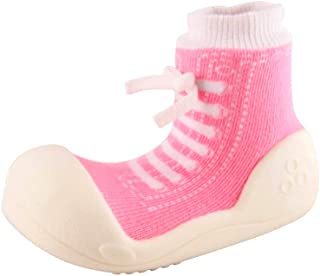 Attipas Sneaker Baby Walker Shoes, Pink, Large