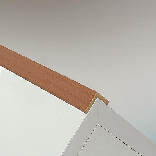 Winkelleiste Schutzwinkel Winkelprofil Tapeten-Eckleiste Abschlussleiste Abdeckleiste aus MDF in Buche 2600 x 22 x 22 mm