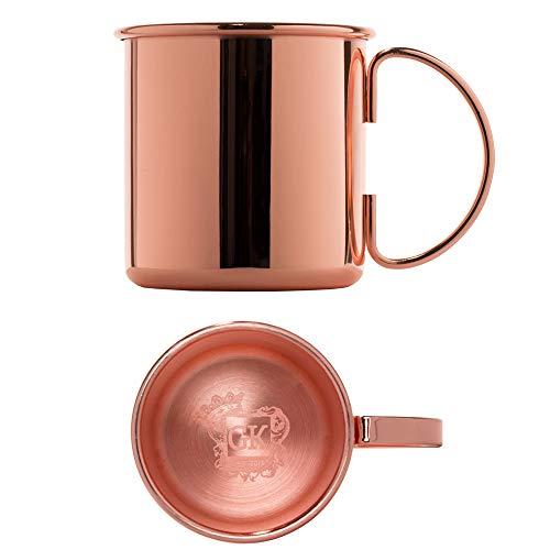 ALANDIA Premium Kupferbecher Moscow Mule glatt | Verkupferter Edelstahl | Auch ideal für Gin Tonic und als Geschenk
