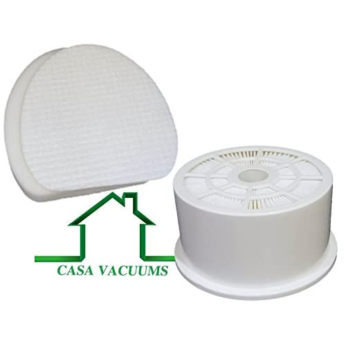Casa Vacuums Replacement for Shark Rotator Professional with XL Reach NV400 NV401 NV402 HEPA Exhaust Filter, 1 Foam & 1 Felt Filter, Part # XFH400 & XFF400