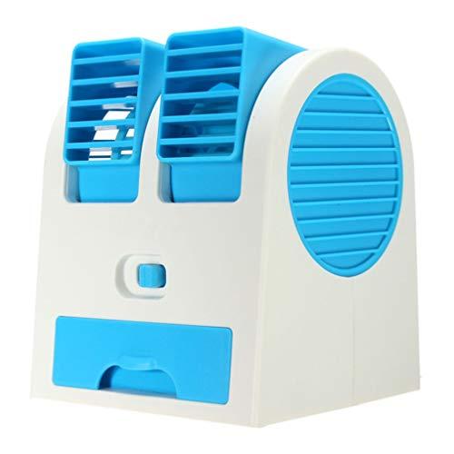 SOLUCKY Mini Kühler, USB-Lüfter Wasserkühlung Staubsammler Fan tragbare Mini-Klimaanlage für Auto, Haus,Blue
