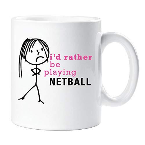 60 Tweede Makeover® Dames Ik zou liever spelen Netball Mok Cup Nieuwigheid Vriend Gift Valentines Gift Mum Zuster Vriend