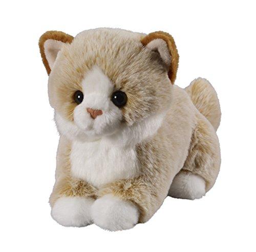 Deine Tiere mit Herz Bauer Spielwaren Katze: Liegendes Kuscheltier aus softem Plüsch, ideal zum Liebhaben und Verschenken, 18 cm, beige (12502)