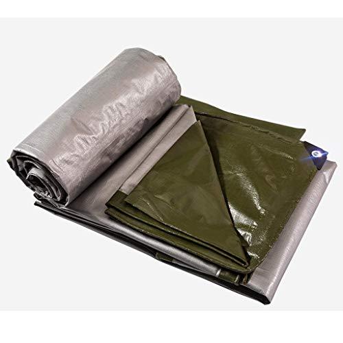FF Tarpaulin zeilen PE Waterdichte Regendoek Poncho Canvas tent Dikke linoleum canvas Zonnezeil doek - Multi-format opties (Maat: 3 * 6 M) 6 * 8m