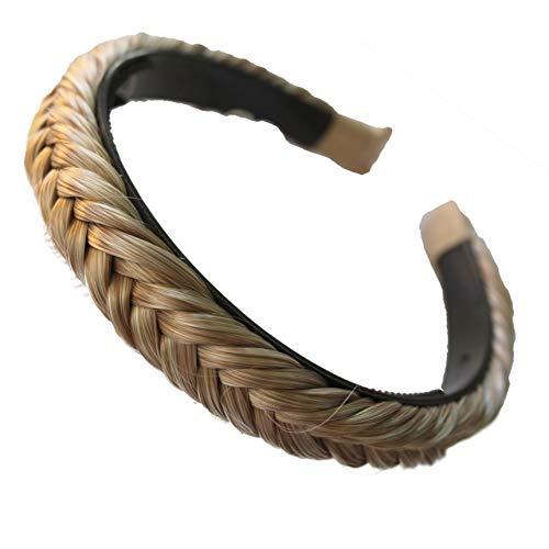 PRETTYSHOP Haarreifen Zopf Geflochten Haarteil Haarband Kopfschmuck Haarschmuck Blond Mix HHR5