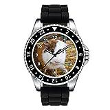 Timest - Cochon d'Inde - Montre Unisexe - Bracelet Silicone Noir Rond Analogique Quartz SE0988SB