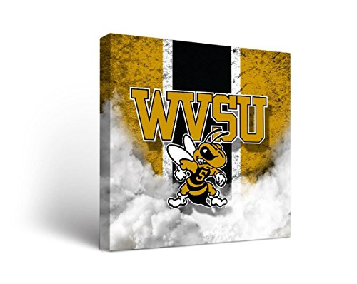Victory Tailgate West Virginia State WVSU Yellow Jackets Canvas Wall Art Vintage Design (36x48)