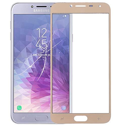 xiaowandou Reparar para su teléfono Pantalla Frontal de la Lente Exterior de Vidrio for Galaxy J4 (2018) Accesorio a renovación (Color : Gold)