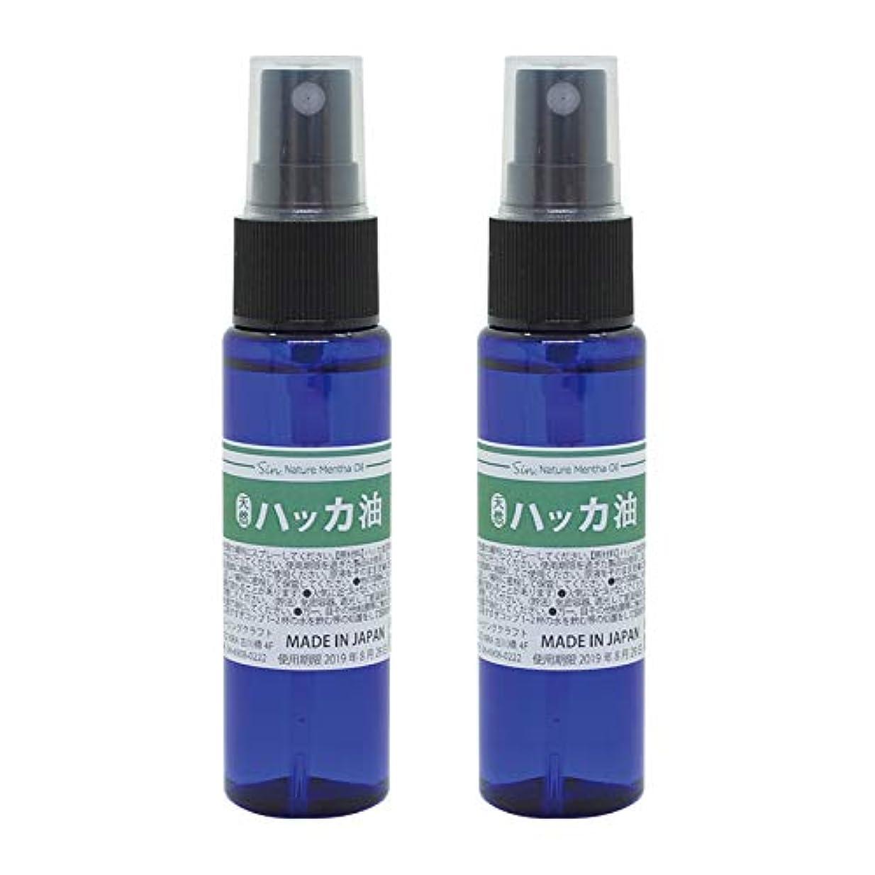 存在スクレーパーやりがいのある日本製 天然ハッカ油(ハッカオイル) スプレー 30mL×2本