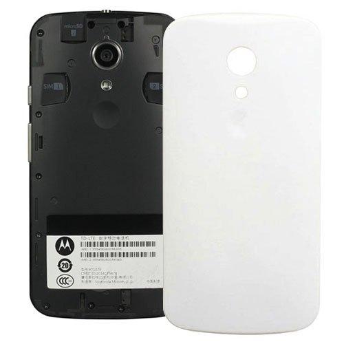 YINGJUN-PHONE REPLACEMENT PARTS para Motorola Móviles Piezas de Repuesto de teléfono Compatible con la Cubierta Trasera de la batería Motorola Moto G2 / XT1063 / XT1068 / XT1069 (Color : Blanco)