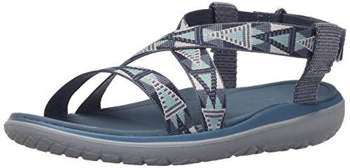 Teva Damen Terra-Float Livia W's Sport-& Outdoor Sandalen, Blau (Mosaic Vintage Blue-Mvblmosaic Vintage Blue-Mvbl), 41 EU
