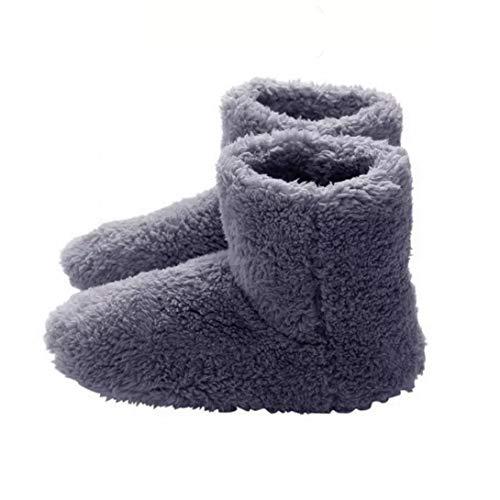 fedsjuihyg Climatizada Zapatillas Calientes USB Calefacción Zapatillas De Invierno Calefacción Plantillas para La Buena Noche De Sueño 5v Calentador, Casa Y Jardín Gris